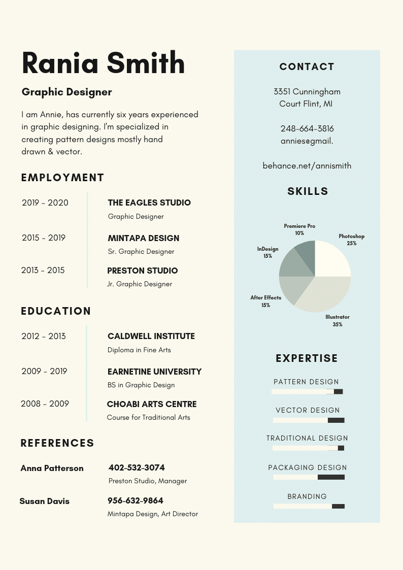 Template CV Infographic #4