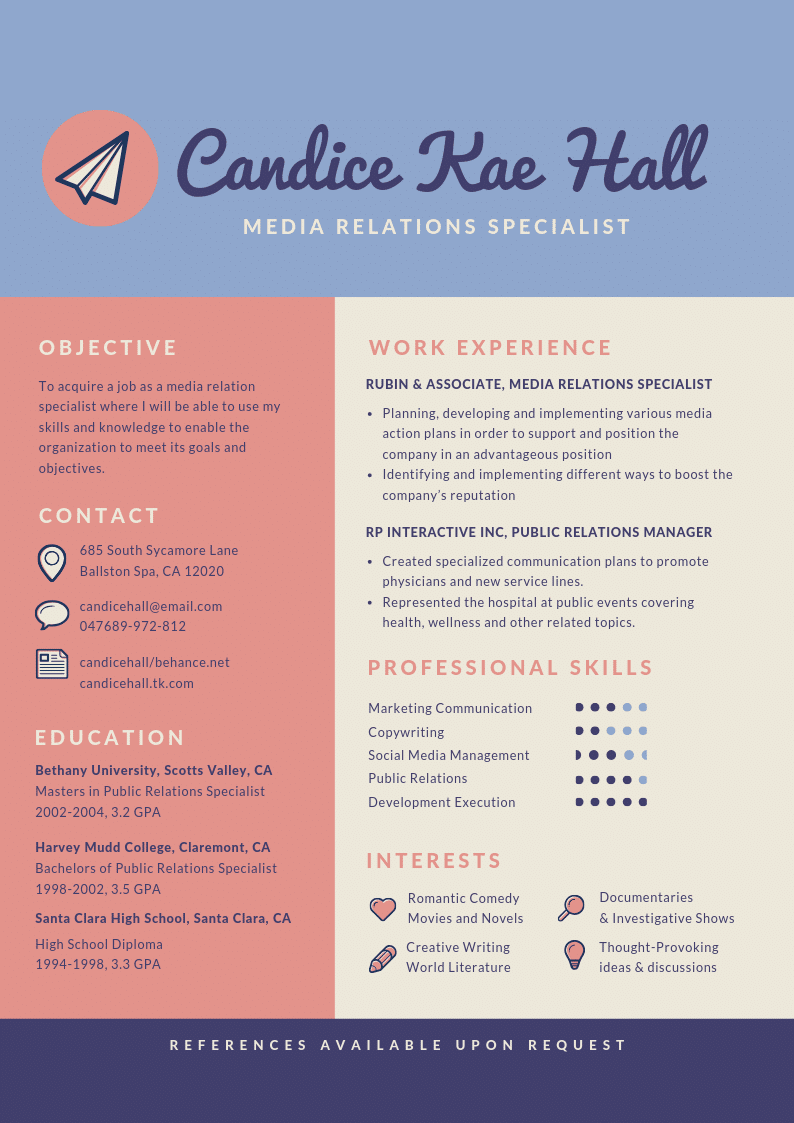 Template CV Infographic #5