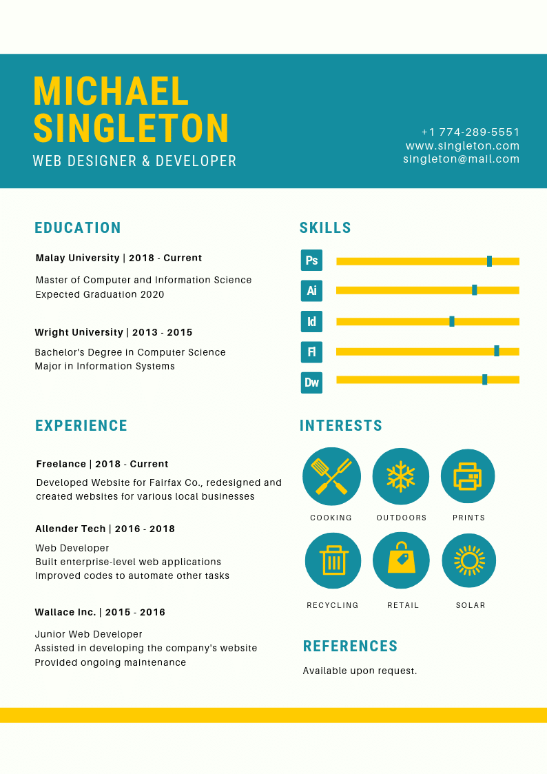 Template CV Infographic #1