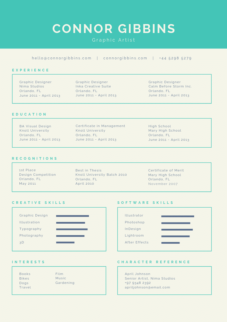 Template CV Infographic #3